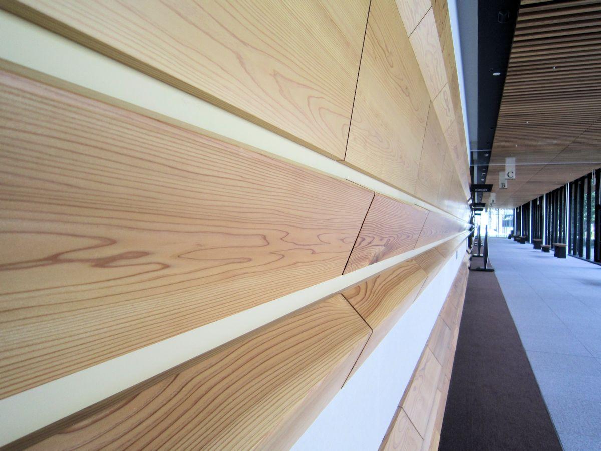 奈良県コンベンションセンターの建材