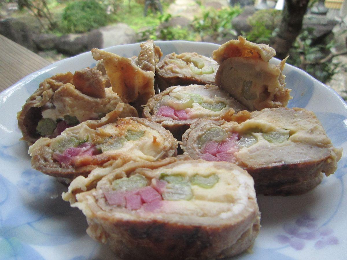 ヤマトポーク海老芋巻き