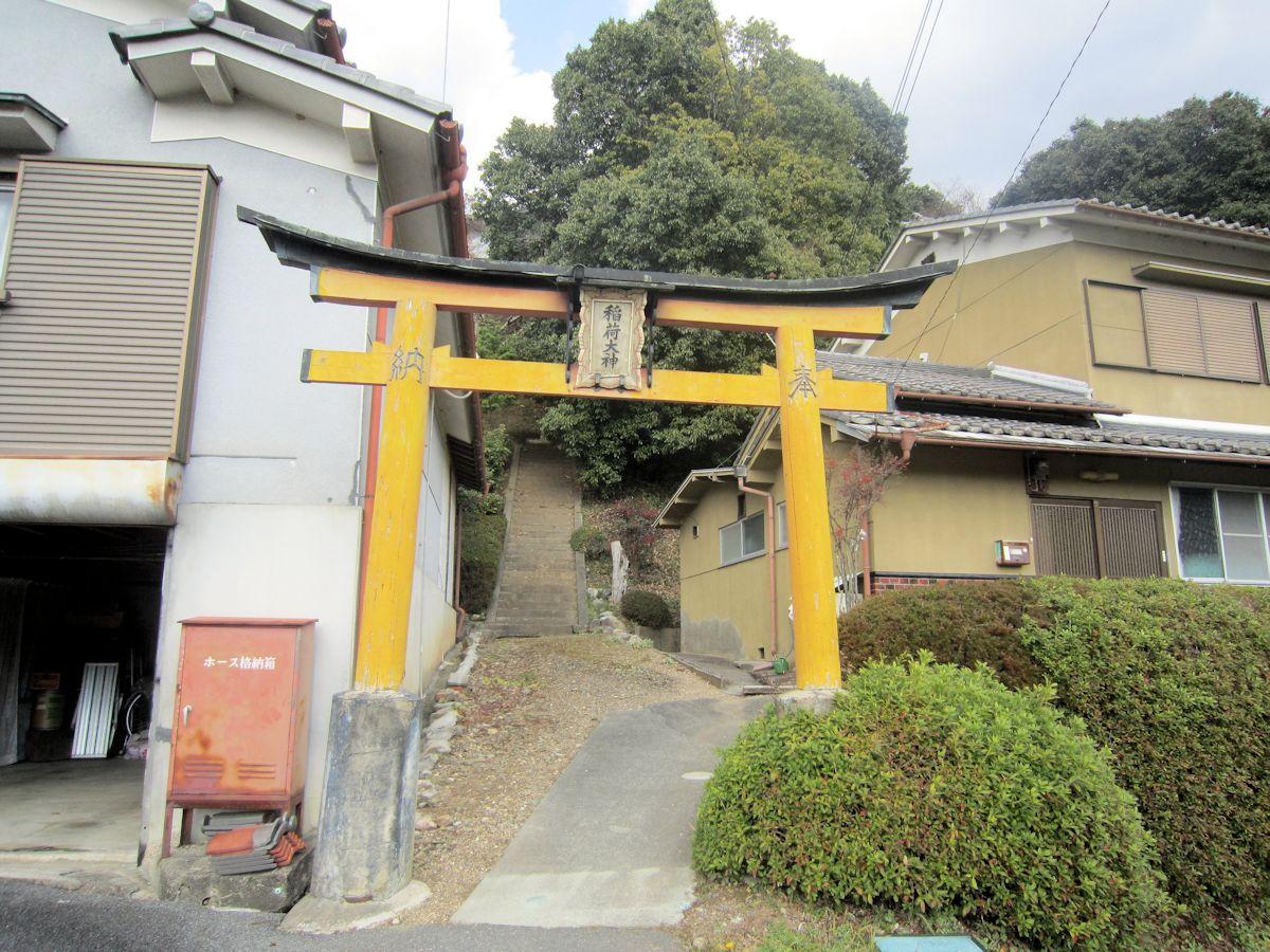 新野稲荷神社の鳥居
