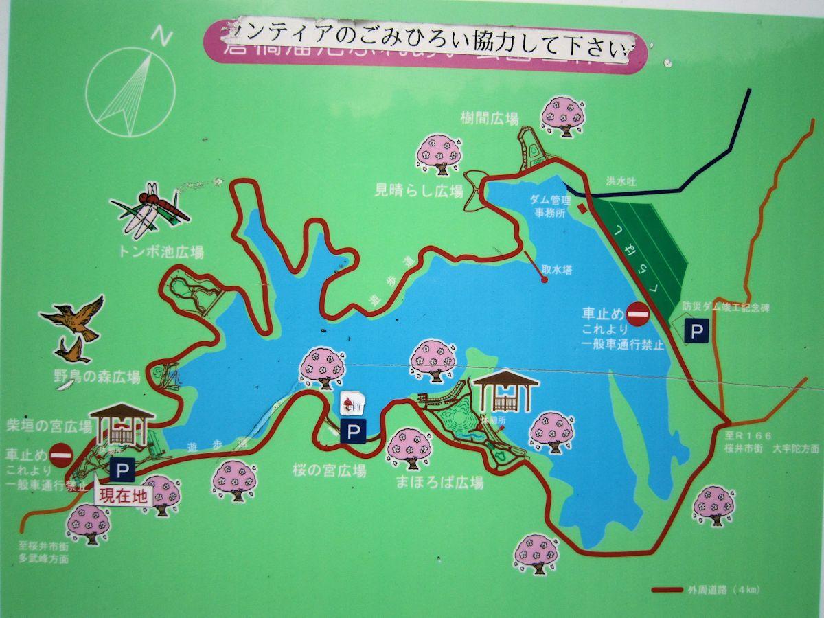 倉橋溜池周辺地図