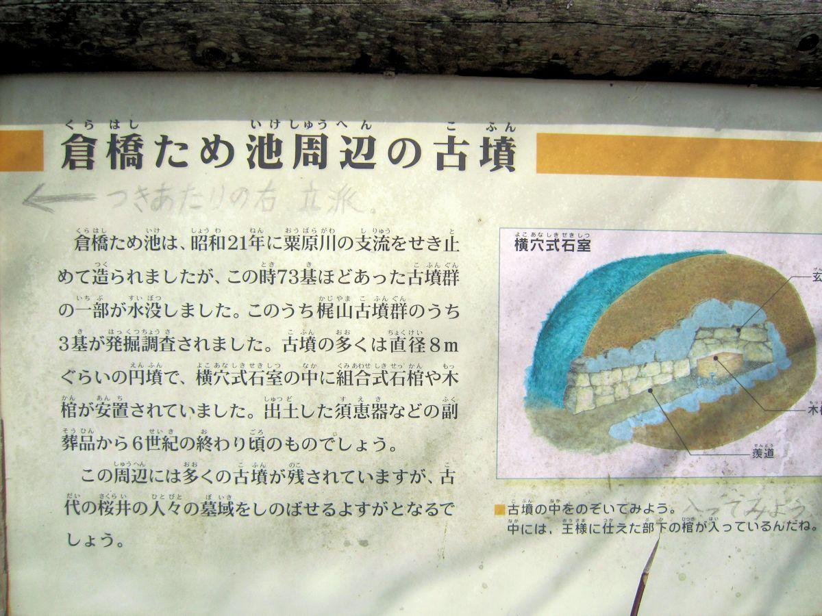 倉橋溜池周辺の古墳案内