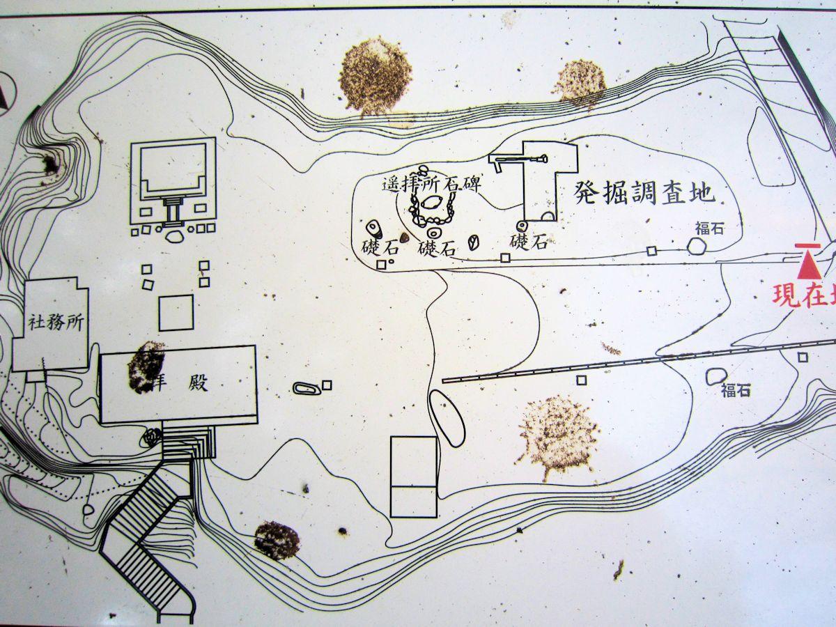 岡寺伽藍跡見取図