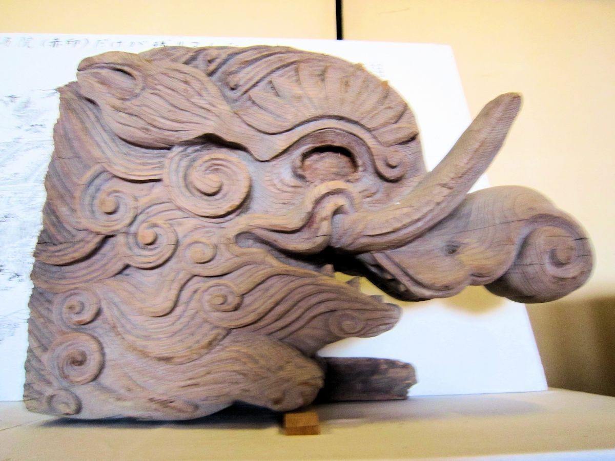 旧正暦寺本堂の象鼻