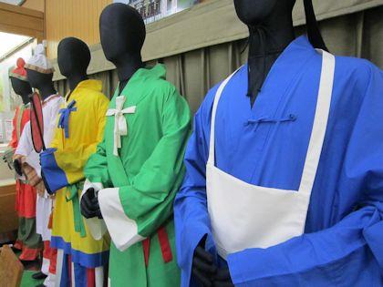 明日香村埋蔵文化財展示室の古代衣装
